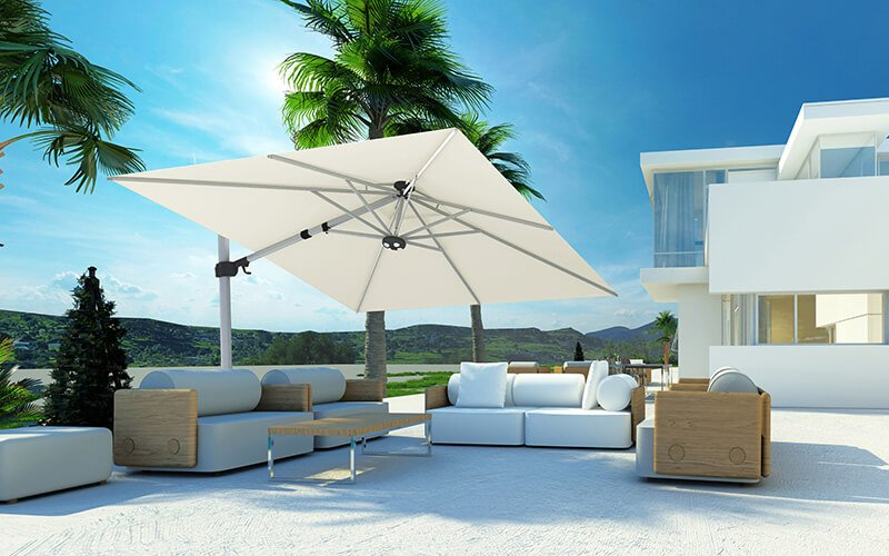 Solero Fratello Pro Parasol Déporté Inclinable 3x3m