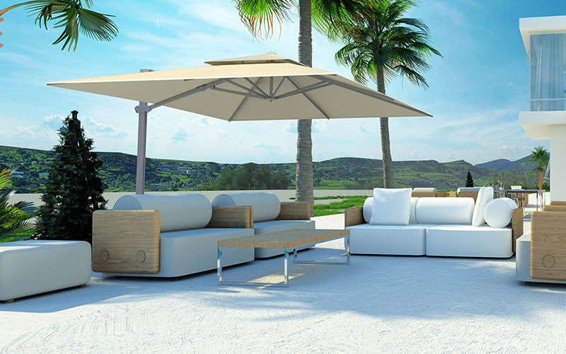 parasol d port solero laterna 300x300 cm ou of 350 cm. Black Bedroom Furniture Sets. Home Design Ideas