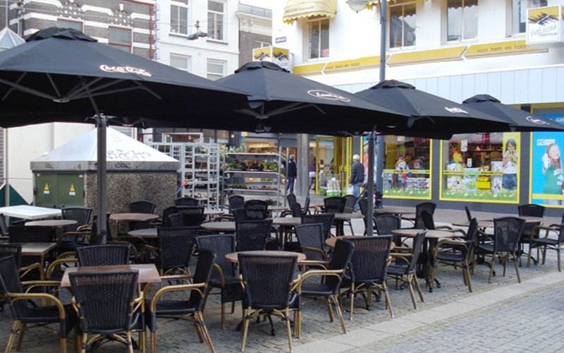 solero prostor parasol pour terrasse 1 m t quip de 4 toiles. Black Bedroom Furniture Sets. Home Design Ideas