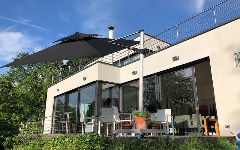 solero fratello pro parasol d port inclinable 3x3m. Black Bedroom Furniture Sets. Home Design Ideas